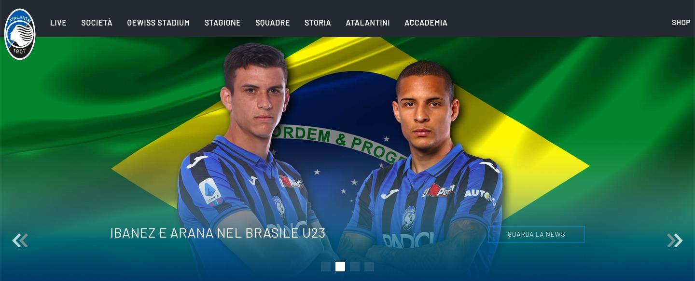 sito ufficiale atalanta