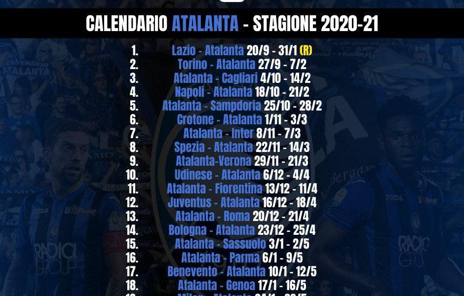 Il calendario dell'Atalanta da stampare e condividere!